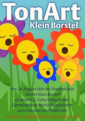 Plakat vom Sommerkonzert im Gemeindesaal Maria Magdalenen in Klein Borstel