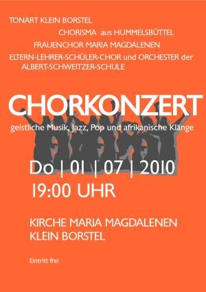 Plakat 4 Chöre-Konzert